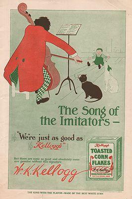 ORIG VINTAGE MAGAZINE AD/ 1909 KELLOGG'S CORN FLAKES ADillustrator- N/A - Product Image