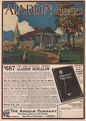 ORIG. VINTAGE MAGAZINE AD/ 1916 ALADDIN HOMEBUILDERS ADillustrator- N/A - Product Image
