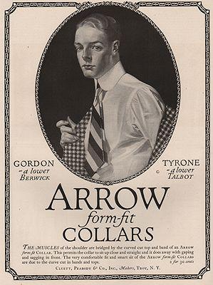 ORIG. VINTAGE MAGAZINE AD: 1917 ARROW COLLAR ADillustrator- J.C.  Leyendecker - Product Image