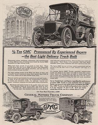 ORIG VINTAGE MAGAZINE AD/ 1917 GENERAL MOTORS TRUCK ADillustrator- N/A - Product Image