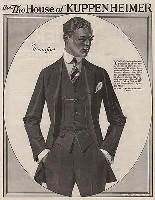 ORIG. VINTAGE MAGAZINE AD: 1917 HOUSE OF KUPPENHEIMER ADillustrator- J.C.  Leyendecker - Product Image