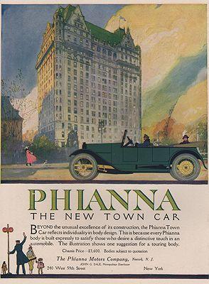 ORIG VINTAGE MAGAZINE AD/ 1917 PHIANNA CAR ADillustrator- N/A - Product Image