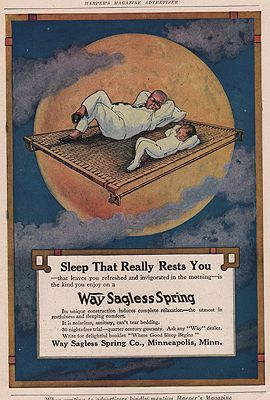 ORIG VINTAGE MAGAZINE AD/ 1917 WAG SAGLESS SPRING CO. ADillustrator- N/A - Product Image