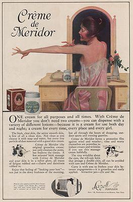ORIG VINTAGE MAGAZINE AD/ 1918 CREME DE MERIDOR ADillustrator- Cushman  Parker - Product Image
