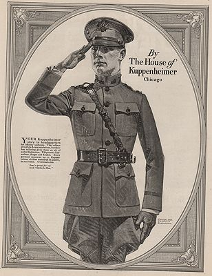 ORIG. VINTAGE MAGAZINE AD: 1918 HOUSE OF KUPPENHEIMER ADillustrator- J.C.  Leyendecker - Product Image
