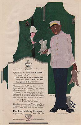 ORIG. VINTAGE MAGAZINE AD/ 1919 FASHION PUBLICITY COMPANYillustrator- N/A - Product Image