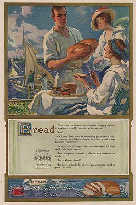 ORIG. VINTAGE MAGAZINE AD/ 1919 FLEISCHMANN'S YEAST ADillustrator- F. Luis  Mora - Product Image