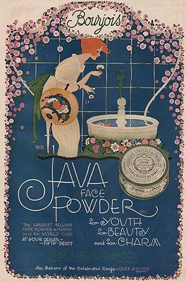 ORIG. VINTAGE MAGAZINE AD: 1919 JAVA FACE POWDER ADillustrator- Ralph  Barton - Product Image