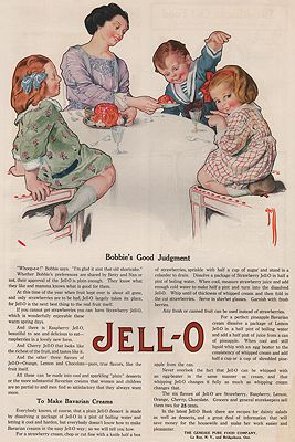 ORIG. VINTAGE MAGAZINE AD: 1919 JELL-O ADillustrator- Rose  O'Neill - Product Image