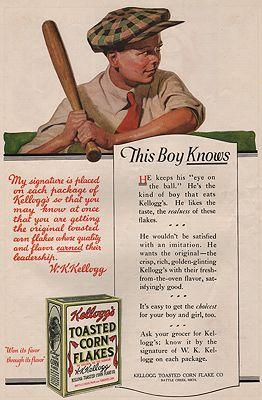 ORIG VINTAGE MAGAZINE AD/ 1919 KELLOGG'S CORN FLAKES ADillustrator- N/A - Product Image
