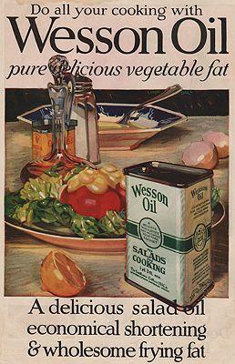 ORIG VINTAGE MAGAZINE AD/ 1919 WESSON OIL ADillustrator- Linn  Ball - Product Image