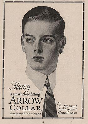 ORIG. VINTAGE MAGAZINE AD: 1920 ARROW SHIRT COLLAR ADillustrator- J.C.  Leyendecker - Product Image