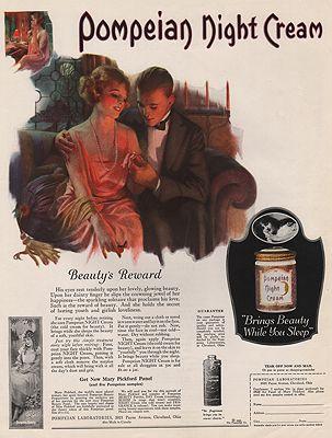 ORIG VINTAGE MAGAZINE AD/ 1922 POMPEIAN NIGHT CREAM ADillustrator- N/A - Product Image