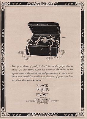 ORIG VINTAGE MAGAZINE AD/ 1923 BLACK STARR & FROST JEWELERS ADillustrator- Rene  Clarke - Product Image