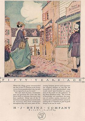 ORIG VINTAGE MAGAZINE AD/ 1923 HEINZ COMPANY ADillustrator- James  Preston - Product Image