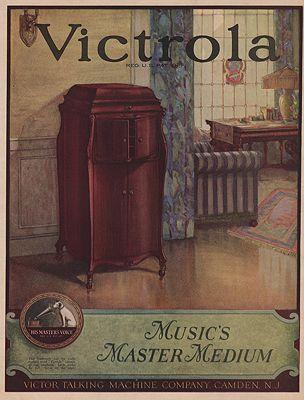 ORIG. VINTAGE MAGAZINE AD: 1923 VICTROLA ADillustrator- N/A - Product Image