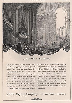 ORIG VINTAGE MAGAZINE AD/ 1924 ESTEY ORGAN COMPANY ADillustrator- Franklin  Booth - Product Image
