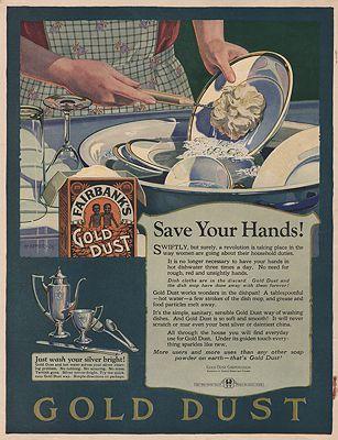 ORIG. VINTAGE MAGAZINE AD: 1924 GOLD DUST SOAP POWDER ADillustrator- H.  Hymer - Product Image