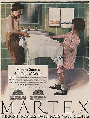 ORIG VINTAGE MAGAZINE AD/ 1924 MARTEX TOWEL ADillustrator- N/A - Product Image