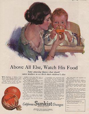 ORIG VINTAGE MAGAZINE AD/ 1924 SUNKIST ORANGES ADillustrator- Roy  Spreter - Product Image