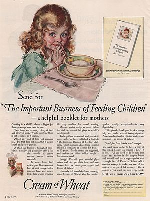 ORIG VINTAGE MAGAZINE AD/ 1925 CREAM OF WHEAT CEREAL ADillustrator- Maud Tousey  Fangel - Product Image