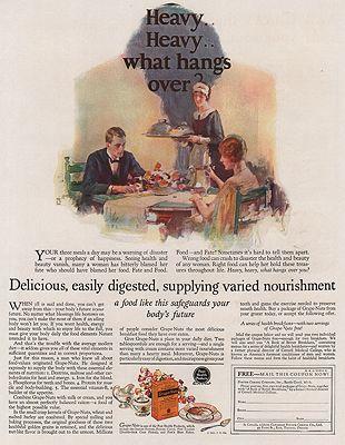 ORIG VINTAGE MAGAZINE AD/ 1925 GRAPE NUTS CEREAL ADillustrator- Dean  Cornwell - Product Image