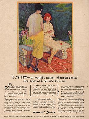 ORIG VINTAGE MAGAZINE AD/ 1925 HOLEPROOF HOSIERY ADillustrator- McClelland  Barclay - Product Image