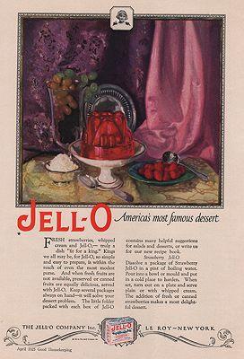 ORIG VINTAGE MAGAZINE AD/ 1925 JELL-O DESSERT ADillustrator- Marion  Powers - Product Image