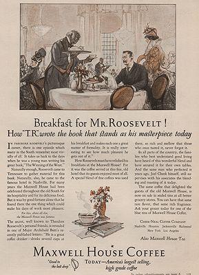 ORIG VINTAGE MAGAZINE AD/ 1925 MAXWELL HOUSE COFFEE ADillustrator- Henry  Raleigh - Product Image