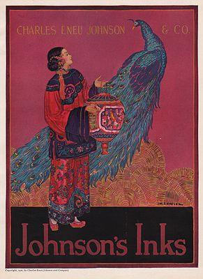 ORIG VINTAGE MAGAZINE AD/ 1926 AD FOR JOHNSON'S INKSillustrator- H. J.  Soulen - Product Image
