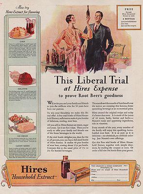 ORIG VINTAGE MAGAZINE AD/ 1926 HIRES ROOT BEER ADillustrator- N/A - Product Image