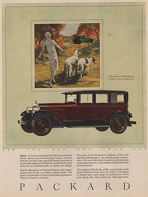 ORIG VINTAGE MAGAZINE AD/ 1926 PACKARD CAR ADillustrator- N/A - Product Image