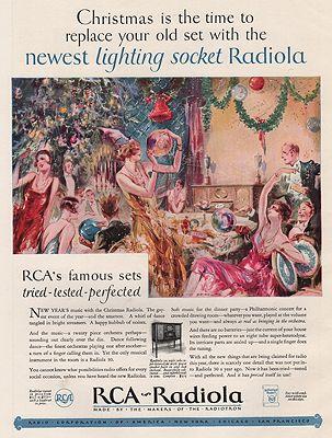 ORIG VINTAGE MAGAZINE AD/ 1926 RCA-RADIOLA ADillustrator- Everett  Shinn - Product Image