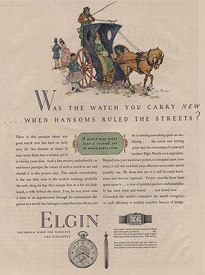 ORIG VINTAGE MAGAZINE AD/ 1927 ELGIN WATCH ADillustrator- James  Preston - Product Image