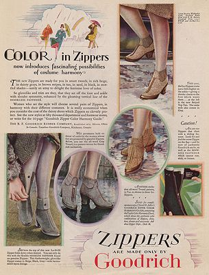 ORIG VINTAGE MAGAZINE AD/ 1927 GOODRICH ZIPPERS ADillustrator- N/A - Product Image