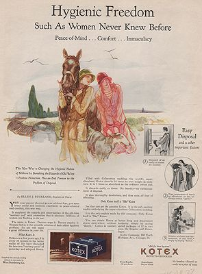 ORIG VINTAGE MAGAZINE AD/ 1927 KOTEX  ADillustrator- Henry  Raleigh - Product Image