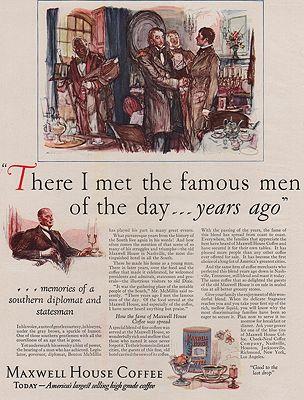 ORIG VINTAGE MAGAZINE AD/ 1927 MAXWELL HOUSE COFFEE ADillustrator- Henry  Raleigh - Product Image