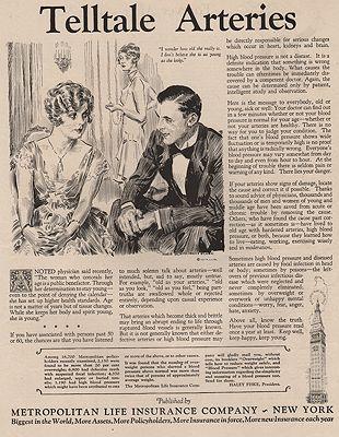 ORIG VINTAGE MAGAZINE AD/ 1927 METROPOLITAN LIFE INSURANCE ADillustrator- James Montgomery   Flagg - Product Image