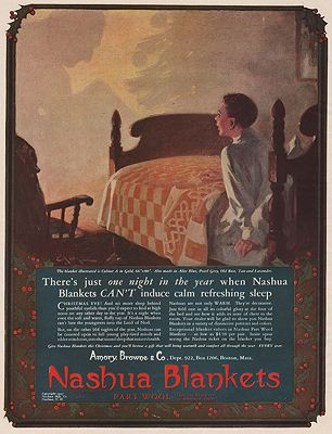ORIG VINTAGE MAGAZINE AD/ 1927 NASHUA BLANKETS ADillustrator- N/A - Product Image