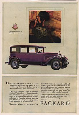 ORIG. VINTAGE MAGAZINE AD: 1927 PACKARD CAR ADillustrator- N/A - Product Image