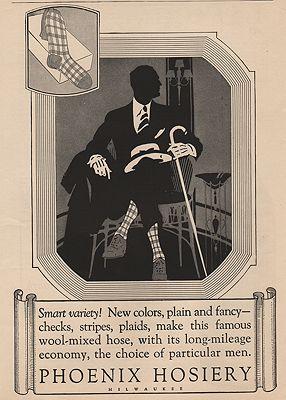ORIG VINTAGE MAGAZINE AD/ 1927 PHOENIX HOSIERY ADillustrator- N/A - Product Image