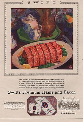 ORIG VINTAGE MAGAZINE AD/ 1927 SWIFT'S PREMIUM HAMS AND BACON ADillustrator- N/A - Product Image