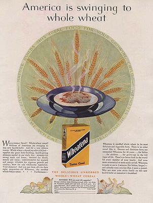 ORIG. VINTAGE MAGAZINE AD: 1927 WHEATENA CEREAL ADillustrator- N/A - Product Image