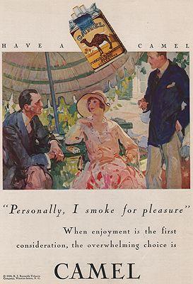 ORIG VINTAGE MAGAZINE AD/ 1928 CAMEL CIGARETTES ADillustrator- N/A - Product Image