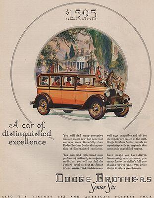 ORIG VINTAGE MAGAZINE AD/ 1928 DODGE BROTHERS CAR ADillustrator- E.J.  Beecher - Product Image