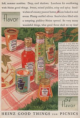 ORIG VINTAGE MAGAZINE AD/ 1928 HEINZ VARIETY ADillustrator- Rene  Clarke - Product Image