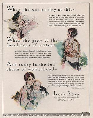 ORIG VINTAGE MAGAZINE AD/ 1928 IVORY SOAP ADillustrator- Edwin  Henry - Product Image