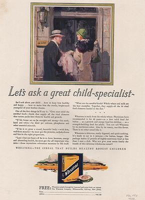 ORIG VINTAGE MAGAZINE AD/ 1928 WHEATENA CEREAL ADillustrator- Walter  Biggs - Product Image