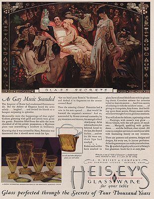 ORIG VINTAGE MAGAZINE AD/ 1929 HEISEY'S GLASSWARE ADillustrator- Gustaf  Tenggren - Product Image