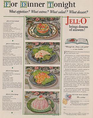 ORIG VINTAGE MAGAZINE AD/ 1929 JELL-O DESSERT ADillustrator- N/A - Product Image